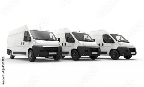 Zdjęcia na płótnie, fototapety, obrazy : Delivery vans