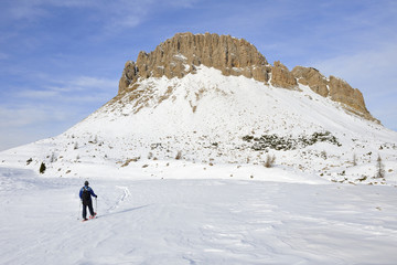 Trentino Dolomiti  Passo Rolle trekking Cristo Pensante