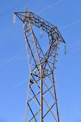 Energia elettrica traliccio alta tensione