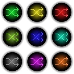 Button Glow Shuffle white