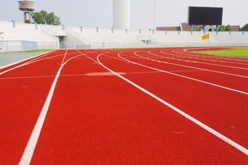 Running track for athletes  in stadium