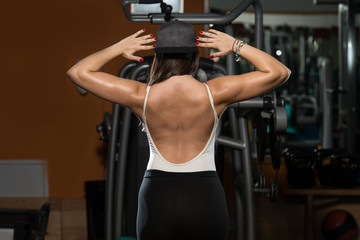 Woman Showing Her Well Trained Back