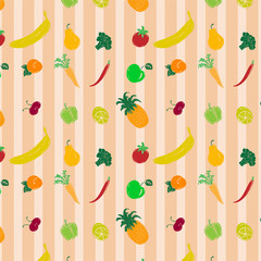 colored pattern with fruits and vegetables2