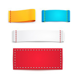 Colorful Blank Fabric Labels or Badges - 75640796