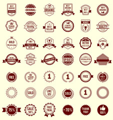 Vector Variety Designs Retro Vintage Badges