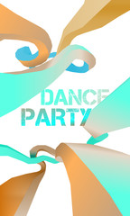 Dance party flyer, vector, eps 10
