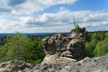 Rock at mountain top