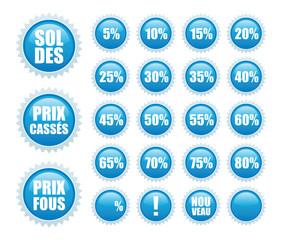 soldes stickers bleus
