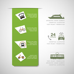 Urban transportation infographic elements