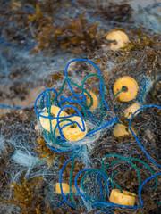 Fishing net close up background