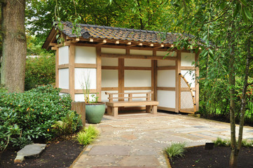 Oriental garden seating