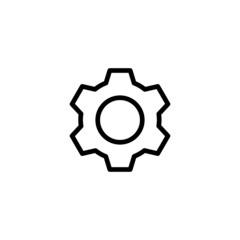 Settings Trendy Thin Line Icon