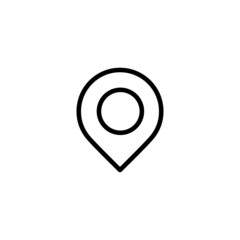 Map Pin Trendy Thin Line Icon