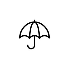 Umbrella Trendy Thin Line Icon