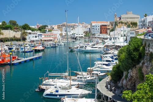 canvas print picture Port of Ciutadella, Menorca