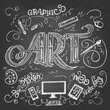 Fototapety Art hand-lettering typography on chalkboard