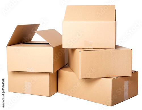 Tuinposter Asia land Carton boxes
