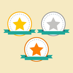 Medal flat Icons. Vector set for your design.