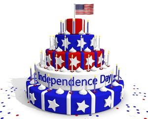 Onafhankelijkheidsdag USA - viering met taart