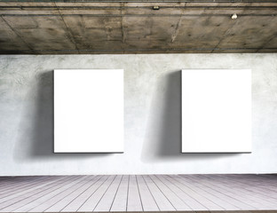 white board on white brick wall