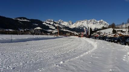 Rennbahn auf Schnee
