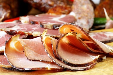 sliced smoked ham