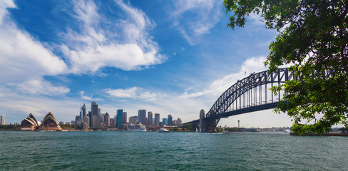 Harbour Bridge and Business District in Sydney