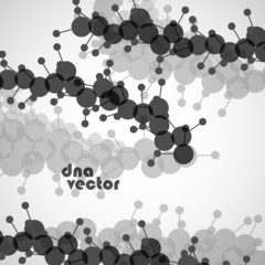 DNA vector. Abstract background. Vector illustration.