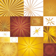 Golden Light Rays Backgrounds