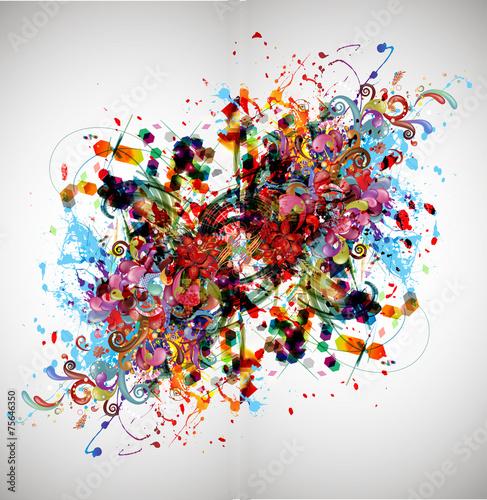 Leinwanddruck Bild яркий абстрактный фон