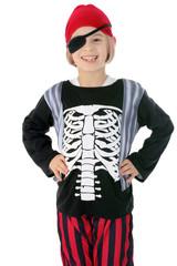 Kind in Kostüm Pirat und Seeräuber