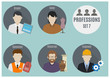 Постер, плакат: Profession people Set 7
