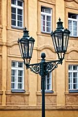 City light in Prague, Czech republic