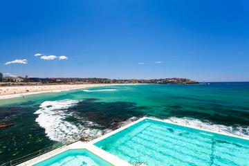 Sunny view of Bondi Beach, Sydney, Australia