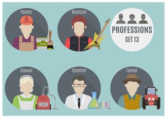 Profession people. Set 13