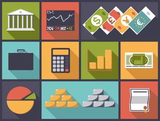 Flat Design Financial Business Vector Illustration