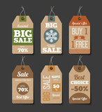 Cardboard Sales Labels