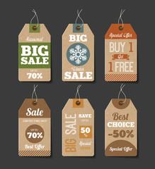 Cardboard Sales Labels