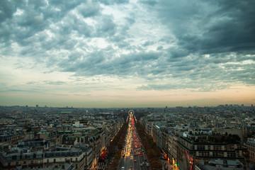 Evening in Paris, France.