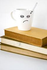sleepy face coffee cup