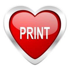 print valentine icon