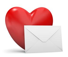cuore con lettera