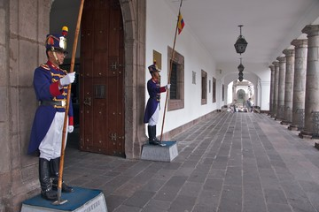 Palace Guards in Quito
