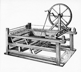 Spinning jenny (James Hargreaves, 1764)