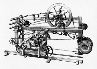 Spinning mule (Samuel Crompton, ca. 1775)
