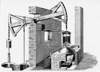 Newcomen steam engine, 1711