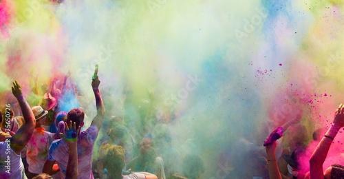 Zdjęcia na płótnie, fototapety, obrazy : holi festival