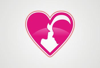 Valentine love logo vector