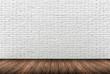 muro mattoni bianchi - 75651117