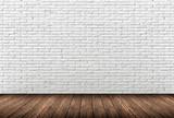 muro mattoni bianchi poster